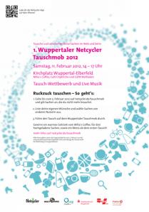 Plakat zum Tauschmob in Wuppertal